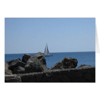 View from Playa Blanca Greeting Card