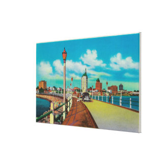 View From Rainbow Pier, Long Beach Canvas Print