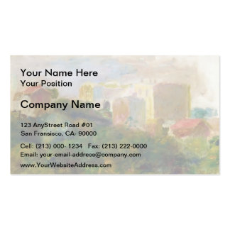 View from Renoir s Garden by Pierre-Auguste Renoir Business Card