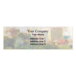 View from Renoir s Garden by Pierre-Auguste Renoir Business Card Templates
