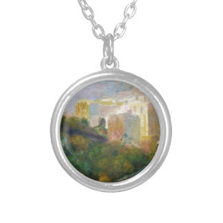 View from Renoir's Garden in Montmartre Round Pendant Necklace