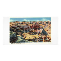 View from Rim, Sheep Mountain, Badlands Card