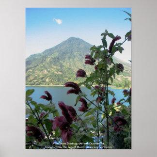 View from Santiago Atitlan, Guatemala Poster