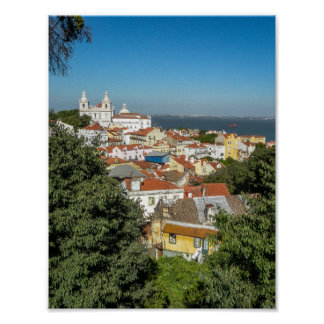 View from Sao Jorge Castle (vert.) - Poster