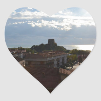 View From Scalea Heart Sticker