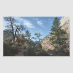 View from Scout Lookout I at Zion National Park Rectangular Sticker