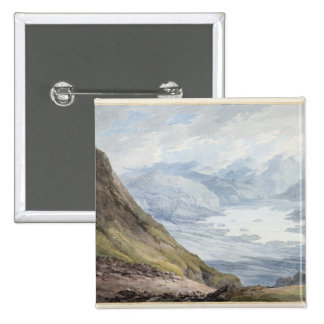 View from Skiddaw over Derwentwater (w/c over penc Pinback Button