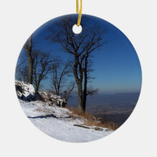 """View from Skyline Drive, VA "" Ceramic Ornament"