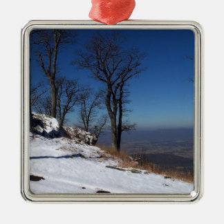 """View from Skyline Drive, VA "" Metal Ornament"