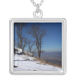 """""""View from Skyline Drive, VA """" Square Pendant Necklace"""