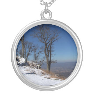 """""""View from Skyline Drive, VA """" Round Pendant Necklace"""