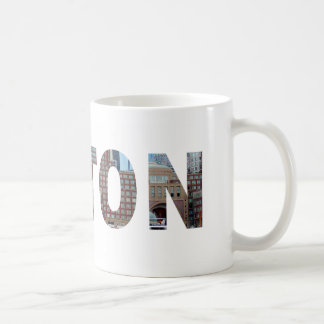 View from South Boston in letters. Coffee Mug