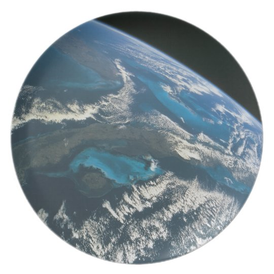 View from Space 4 Melamine Plate