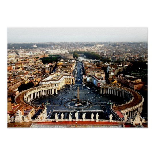 View from St Marks, Rome Poster