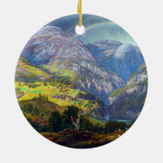 View From Stalheim By Johan Christian Dahl (1842) Ceramic Ornament at Zazzle