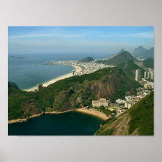 """View from Sugar Loaf, Rio de Janeiro"" 12x9 poster"