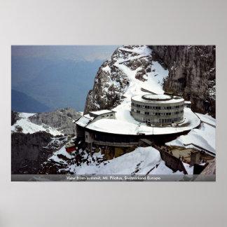View from summit, Mt. Pilatus, Switzerland Europe Poster