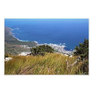 View from Table Mountain across to Camp s Bay Photo Print