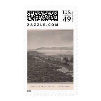 View from Telegraph Hill looking west Postage Stamp