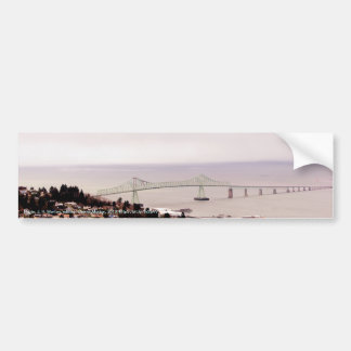 view from the Astoria Column Astoria–Megler Bridge Bumper Sticker
