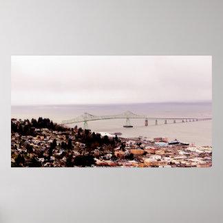 view from the Astoria Column Astoria–Megler Bridge Poster