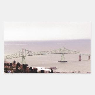 view from the Astoria Column Astoria–Megler Bridge Stickers