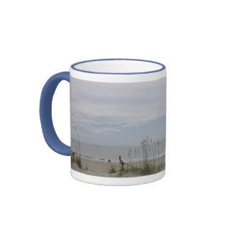 View From The Beachhouse Ringer Mug