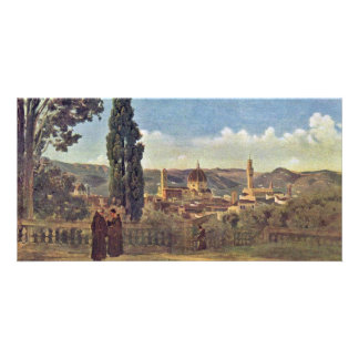 View From The Boboli Gardens In Florence / Italian Personalized Photo Card