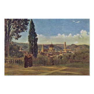 View From The Boboli Gardens In Florence / Italian Poster
