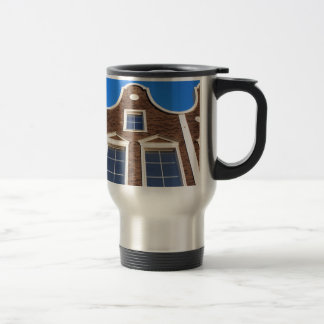 View from the bottom to the modern building travel mug
