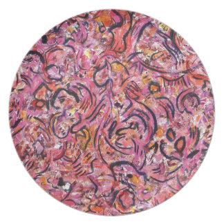 View from the Cave Gestural Abstract Dinner Plate