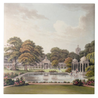 View from the dome, Brighton Pavilion, engraved by Ceramic Tile