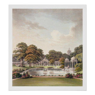 View from the dome, Brighton Pavilion, engraved by Poster