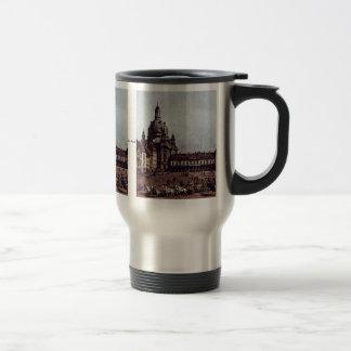 View From The Dresden Neumarkt In Dresden 15 Oz Stainless Steel Travel Mug