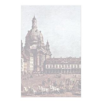 View From The Dresden Neumarkt In Dresden Stationery