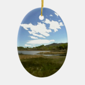 View From the Edge of the Lake Ceramic Ornament