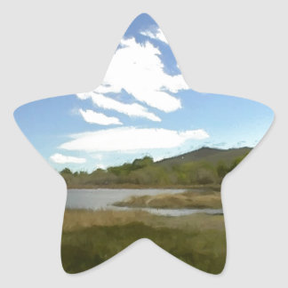 View From the Edge of the Lake Star Sticker