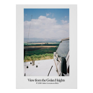 View from the Golan Heights Poster