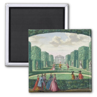 View from the green loggia to the theatre, from 'H 2 Inch Square Magnet