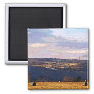 View from the Hill 2 Inch Square Magnet