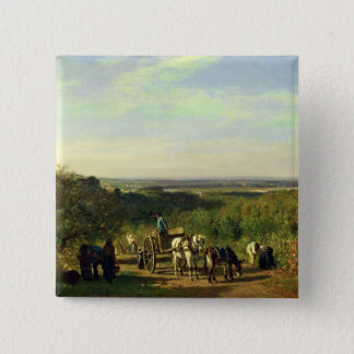 View from the Hilltops of Suresnes Pinback Button