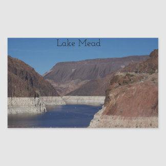 View from the Hoover Dam 2016 Rectangular Sticker
