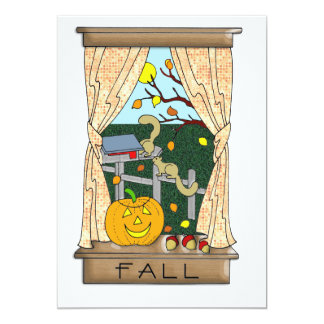 View from the Kitchen Window in Fall Card
