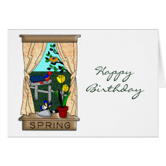 View from the Kitchen Window in Spring Card