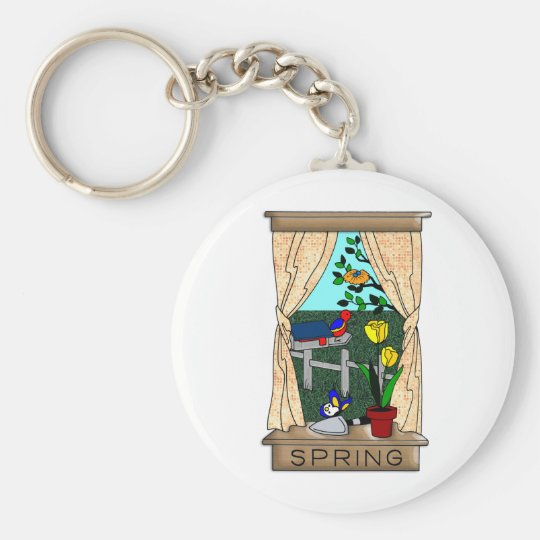 View from the Kitchen Window in Spring Keychain