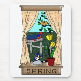 View from the Kitchen Window in Spring Mouse Pads
