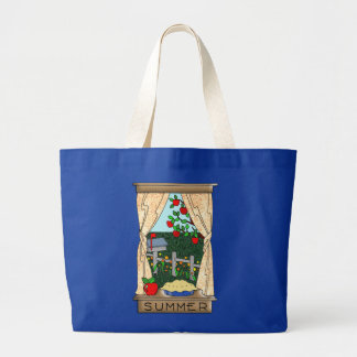 View From the Kitchen Window in Summer Tote Bags