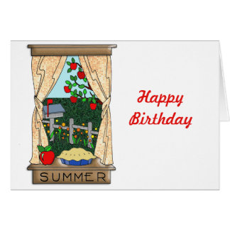 View From the Kitchen Window in Summer Card
