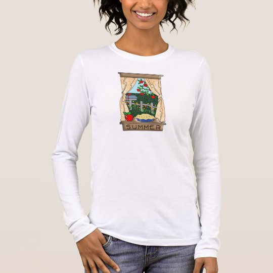 View From the Kitchen Window in Summer Long Sleeve T-Shirt