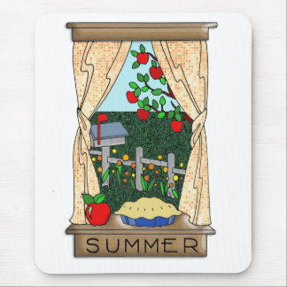 View From the Kitchen Window in Summer Mouse Pads